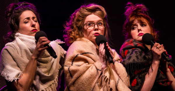 (L-R) Nadine Djoury, Allana Reoch, Stacey McGunnigle in The Best Is Yet To Come Undone, photo credit Paul Aihoshi
