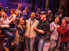 The cast of Come From Away, Canada Company, photo by Matthew Murphy