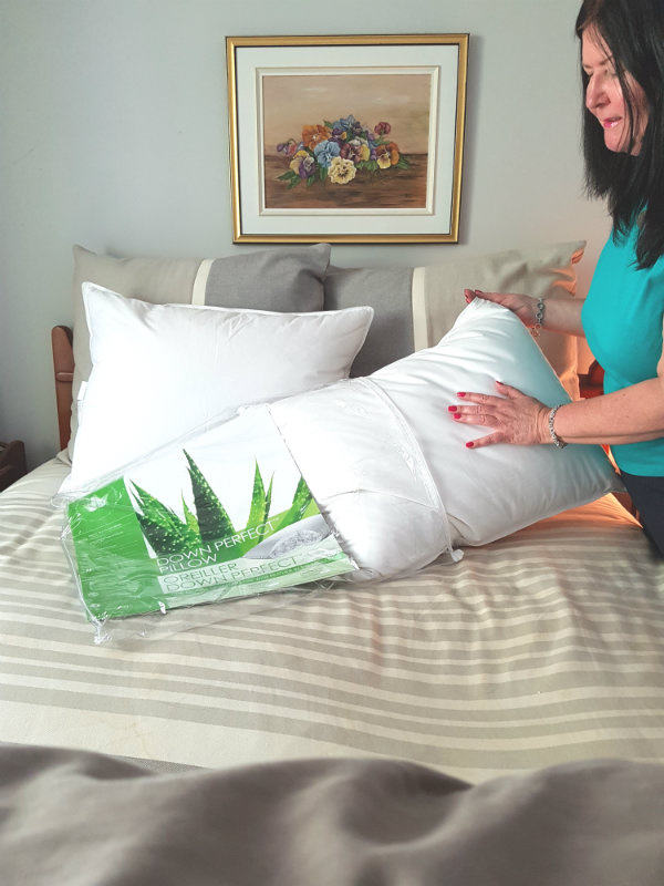 The Down Perfect Pillow in Medium from Canadian Down & Feather Company is their best seller