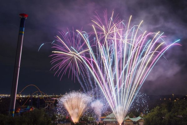 Fireworks on Victoria Day Weekend at Canada's Wonderland