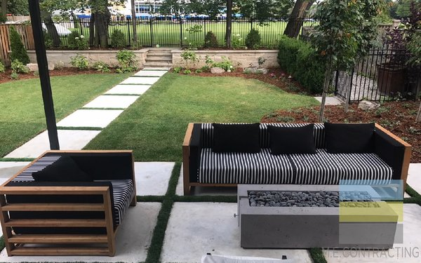 M.E. Contracting in Toronto can help you landscape your small backyard.