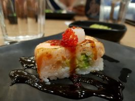 KaKa Signature Oshi Sushi at KaKa All You Can Eat Sushi Restaurant in Toronto