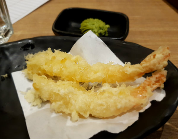 Tempura Shrimp at KaKa All You Can Eat Japanese Restaurant in Toronto