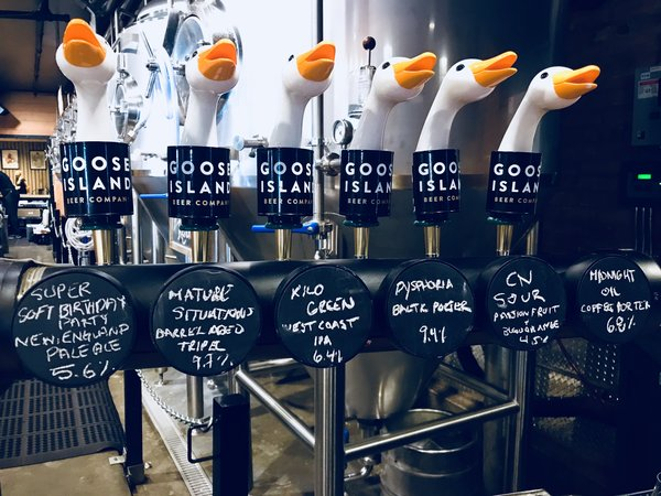 Goose Head Taps at Goose Island Brewhouse