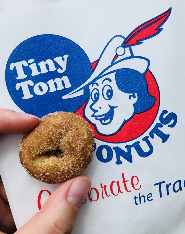 Tiny Tom Cinnamon Sugar Donuts