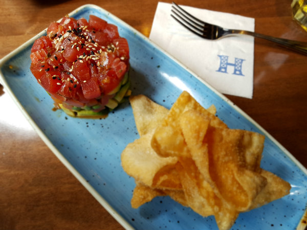 Ahi Tuna Tartare at Hendriks Restaurant at Toronto Eaton Centre