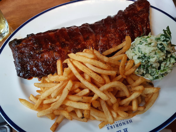 Campfire BBQ Danish Ribs at Hendriks Restaurant