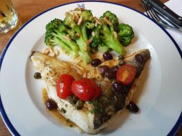 Pan-Seared Branzino at Hendriks at Eaton Centre
