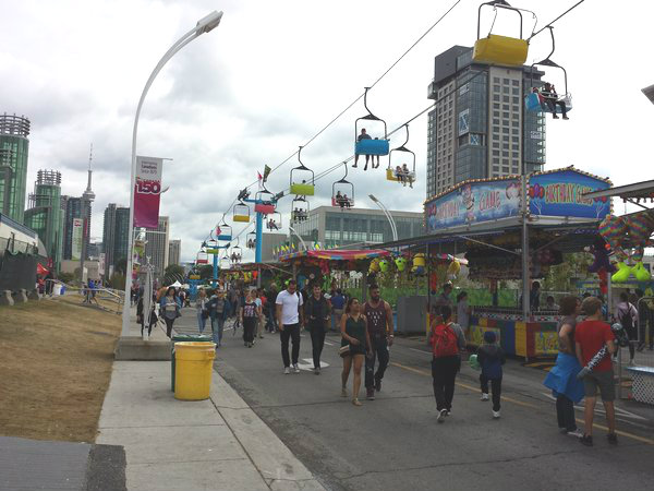 CNE in Toronto is open on Labour Day 2018.