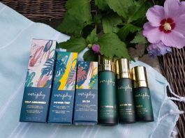 The Veriphy Skincare line includes a facial moisturizer, facial serum and eye cream.