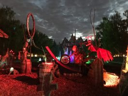 Decor near Wonder Mountain at Halloween Haunt at Canada's Wonderland