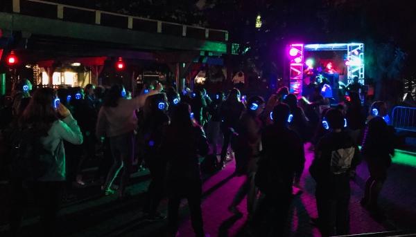 Silent Disco at Halloween Haunt at Canada's Wonderland