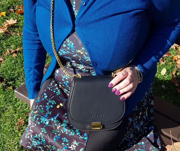 The Jane 1775 handbag from Lux and Nyx has gold plated hardware.