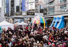 Kidzfest at Yonge Dundas Square is one of the most popular free or cheap Christmas holiday events in Toronto 2018
