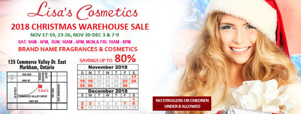 Lisa's Cosmetics Warehouse Sale in Toronto