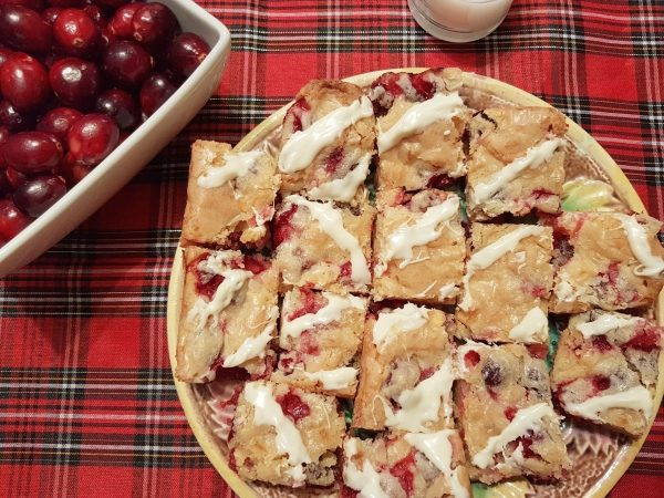 White Chocolate Cranberry Bars are easy to make.