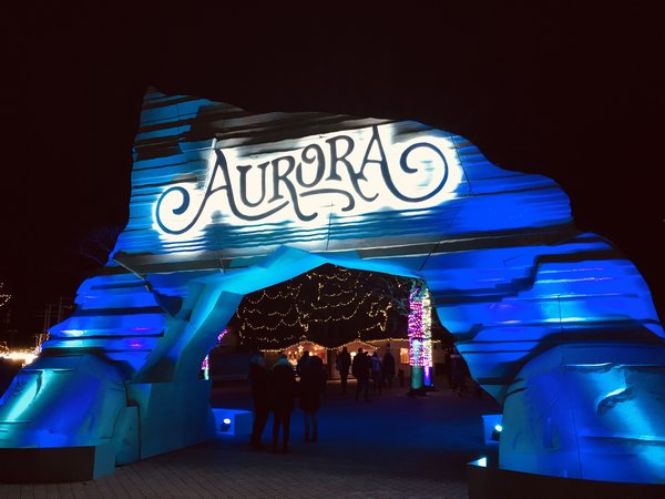 Entrance gate to Aurora Winter Festival