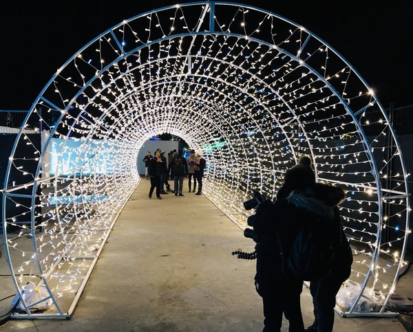 Selfie Tunnel at Aurora Winter Festival
