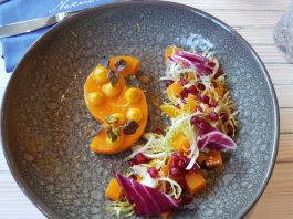 Roasted Butternut Squash Salad at Neruda Restaurant