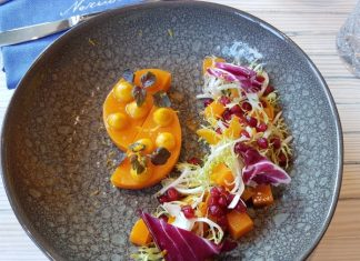 Roasted Butternut Squash Salad at Neruda Restaurant