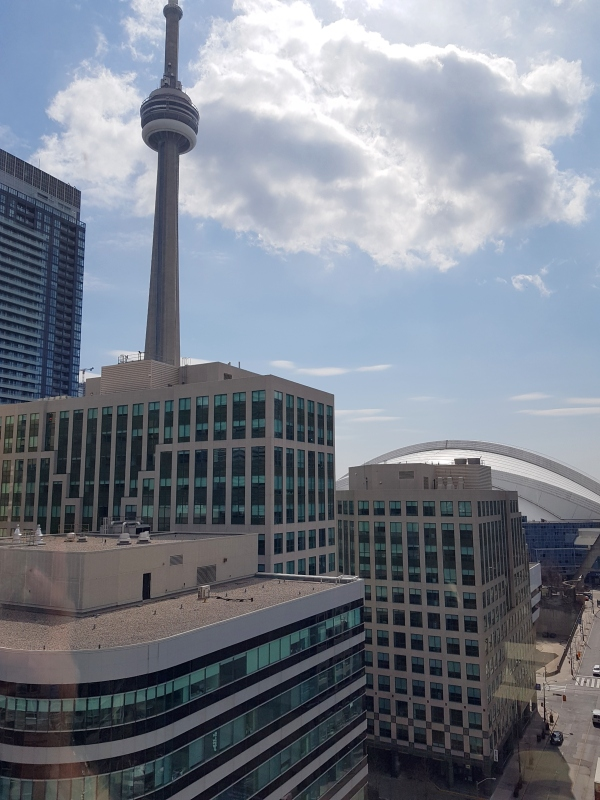 The CN Tower and Rogers Centre in Toronto.