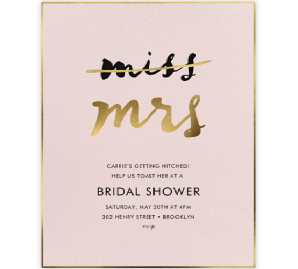 Miss Out Bridal Shower Invitation by kate spade new york for Paperless Post