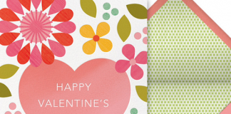 Blossoming Affection Valentine's Day Card from Paperless Post