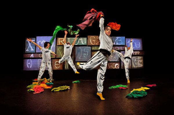 The 26 Letter Dance, photo © Rolline Laporte features the ensemble