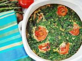 Roasted Asparagus and Spinach Frittata