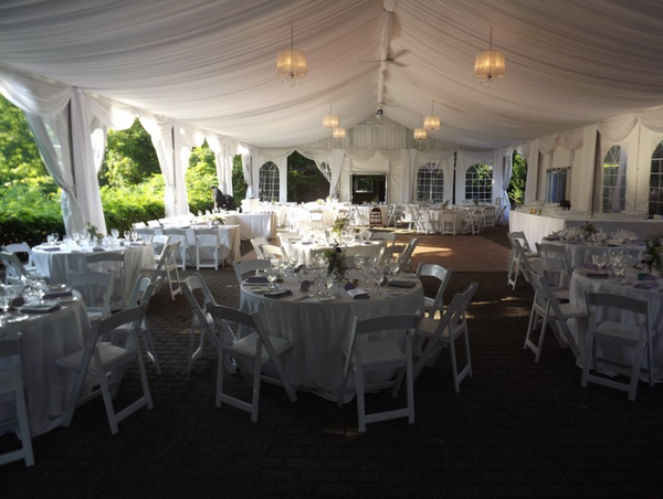 A tented wedding reception at Miller Lash House is one of the more unique wedding venues in Toronto.