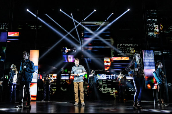 Canadian cast of Dear Evan Hansen at Royal Alexandra Theatre, photo Matthew Murphy 2019