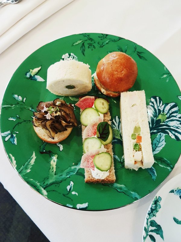 The finger sandwiches offered at the Royal Baby Shower Afternoon Tea at The Omni King Edward Hotel