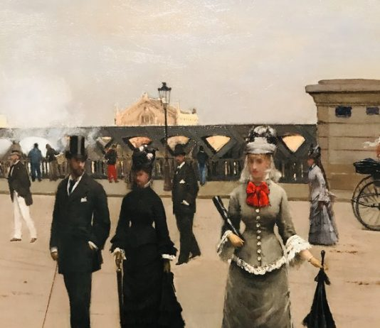 Jean Beraud's Place de L'Europe at Impressionism in the Age of Industry: Monet, Pissarro and more