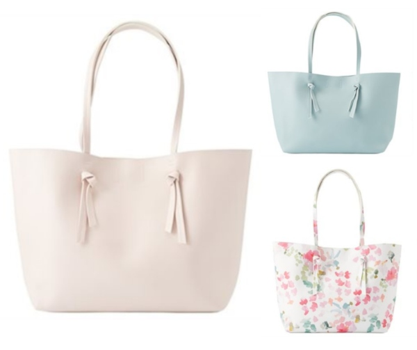 Mother's Day Totes in Blush, Aqua and Ivory Floral, $39.50 each from Indigo