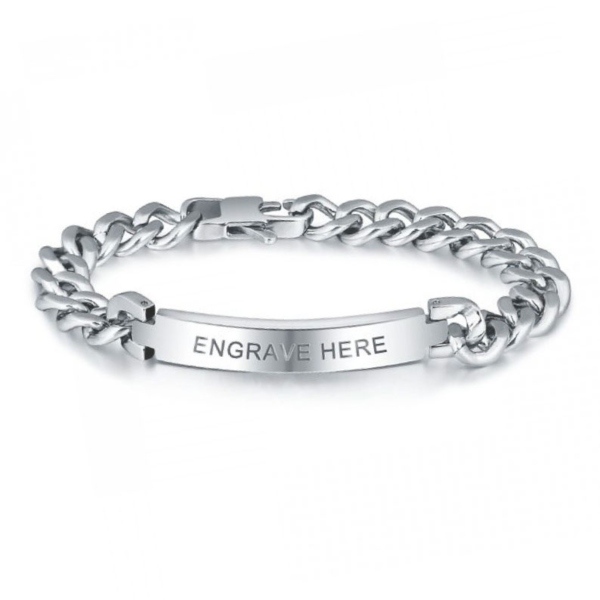 An engraved message on jewelry makes it more personal.