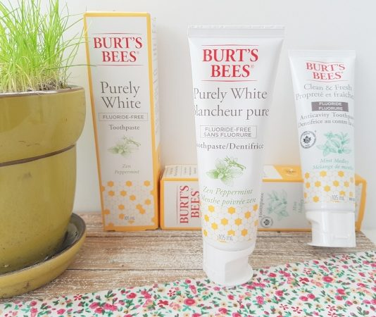 Burt's Bees Purely White and Clean & Fresh Toothpastes are some of the new beauty products for May 2019.