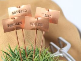 Garden Stakes for Herbs from Etsy