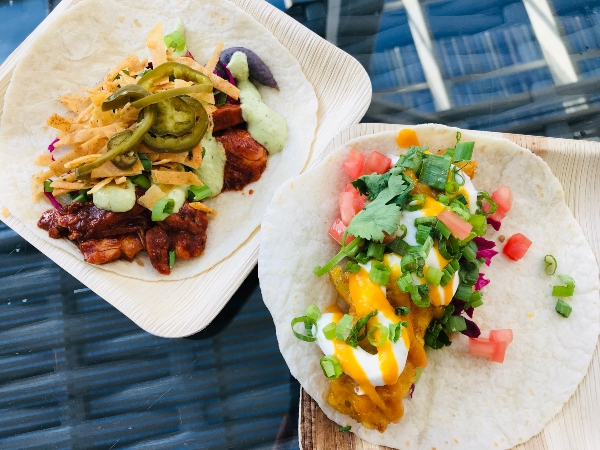 Fish and chicken taco at Bizarre Beach Club