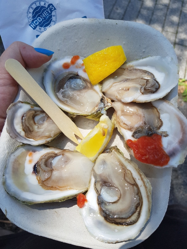 Lameque Cocktail oysters from Rodney's Oyster House at Redpath Waterfront Festival