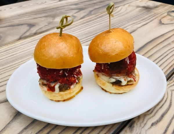 Meatball sliders at The Parlour on King Street West in Toronto.