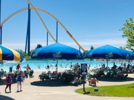 Wave Pool and Umbrellas at Canada's Wonderland