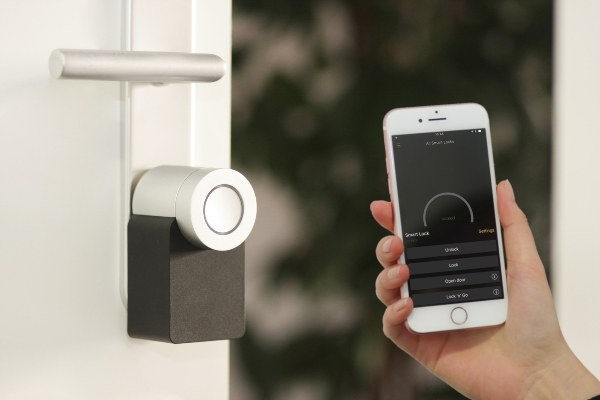 Smart locks on homes are one of the most popular tech trends right now.