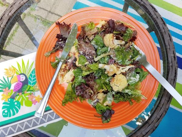 Roasted Cauliflower and Onion Salad