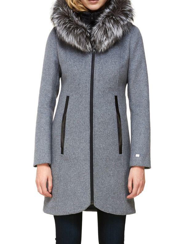 Soia & Kyo Charlena-XN Fox Fur Trimmed Wool Blend Hooded Coat from Hudson's Bay