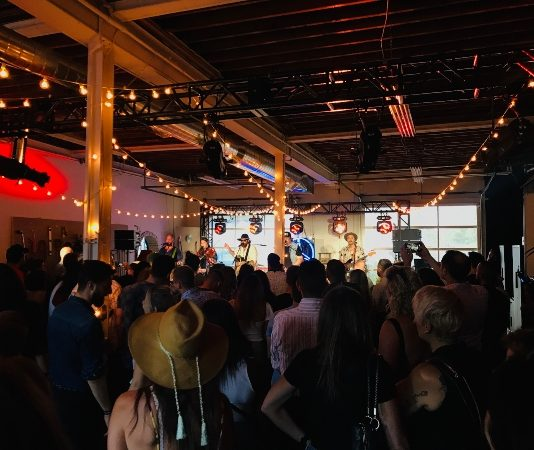 The Strumbellas perform at Mercedes Benz Garage Gigs on July 15, 2019 in Toronto
