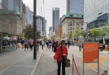 Celebrate TIFF by walking along King Street West, which is closed for pedestrian traffic during TIFF 2018.