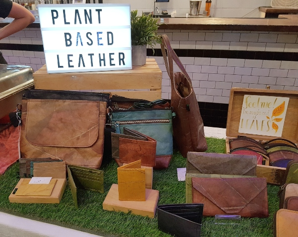 Vegan bags made from leaves at Toronto Vegan Social Pop-Up
