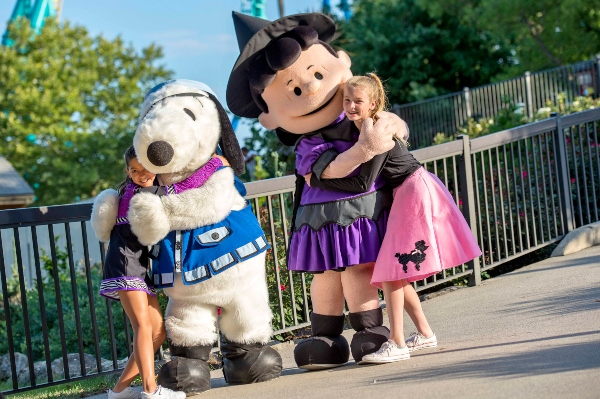 Snoopy and Lucy at Camp Spooky at Canada's Wonderland
