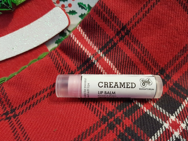 Vegans should enjoy Creamed Lip Balm by Sudsatorium in their stocking.