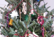Decorating our Christmas tree with decorations that have been handed down is one of our family Christmas traditions.